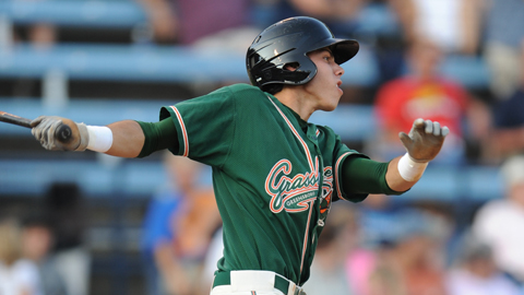 Christian Yelich posted .312/.388/.484 at Class A Greensboro last season.