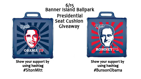 Stockton Ports fans will get to sit on their least-favorite presidential candidate's face.